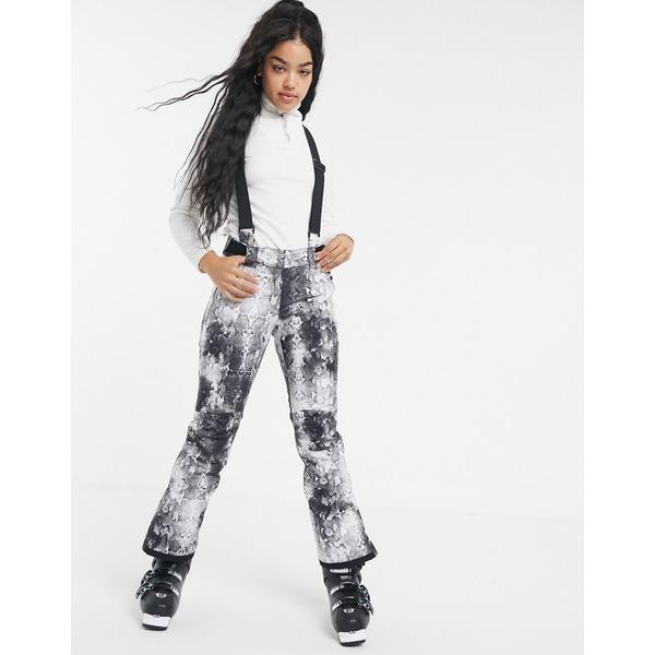デアツービー レディース カジュアルパンツ ボトムス Dare2b Effused ski pant in black Monochrome snakeskin