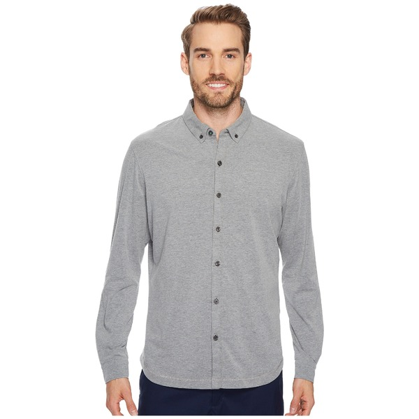 リンクソウル メンズ シャツ トップス LS208 - Rambler Long-Sleeved Button Down Shirt Dark Grey Heather