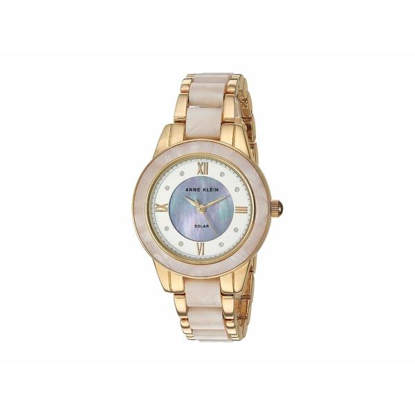 アンクライン レディース 腕時計 アクセサリー Solar Watch White/Gold-Tone