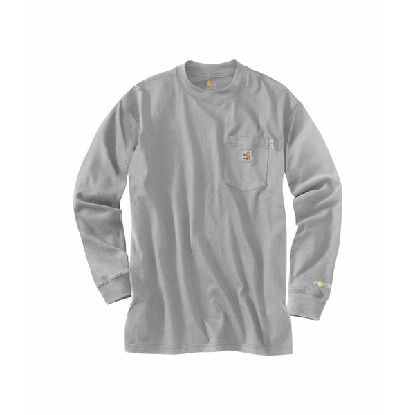 カーハート メンズ シャツ トップス Big & Tall Flame-Resistant Force Cotton Long Sleeve T-Shirt Light Gray