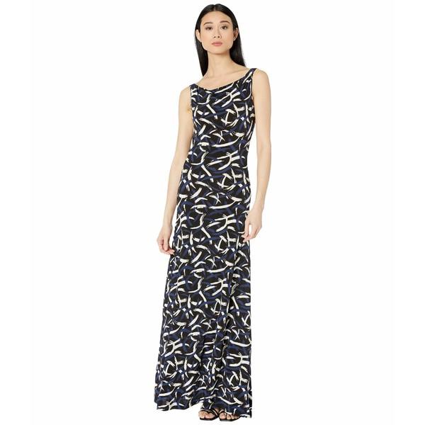 エム ミッソーニ レディース ワンピース トップス Open Back Printed Jersey Long Gown Black/Blue/White