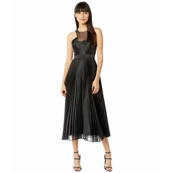 ビーシービージーマックスアズリア レディース ワンピース トップス Pleated Dress Black