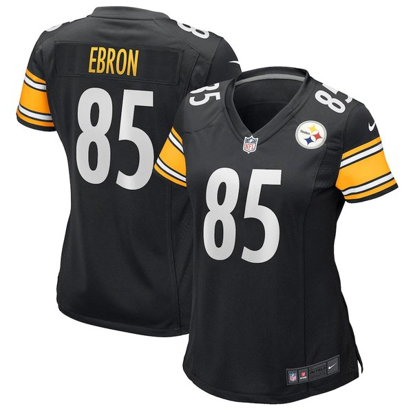 ナイキ レディース シャツ トップス Eric Ebron Pittsburgh Steelers Nike Women's Game Jersey Black