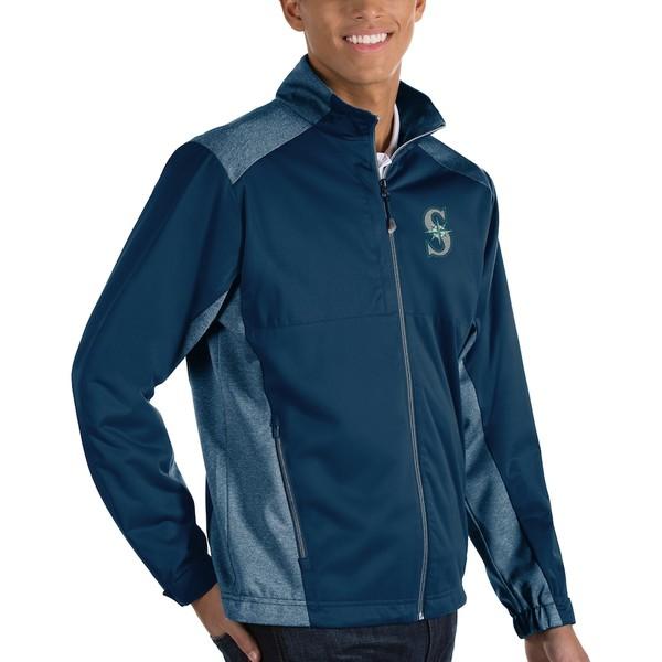 アンティグア メンズ ジャケット&ブルゾン アウター Seattle Mariners Antigua Revolve Full-Zip Jacket Navy