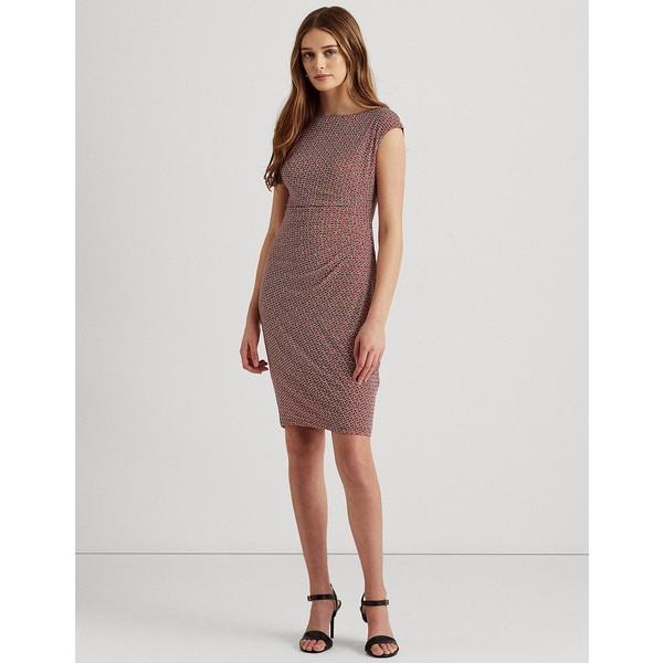 割引発見 Boatneck Ruched Print トップス ワンピース レディース ラルフローレン Dress Multi Pink/Green Aruba  68-22mexn1j1h-v2l1 - outdoor-go.com