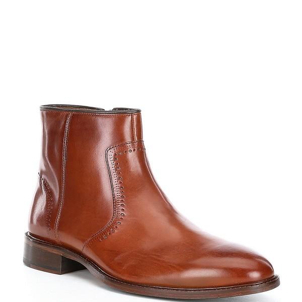 ジョンストンアンドマーフィー メンズ シューズ ブーツ レインブーツ 直営店 Tan 年末年始大決算 全商品無料サイズ交換 Toe Sayer Side Boots Zip Men's Plain