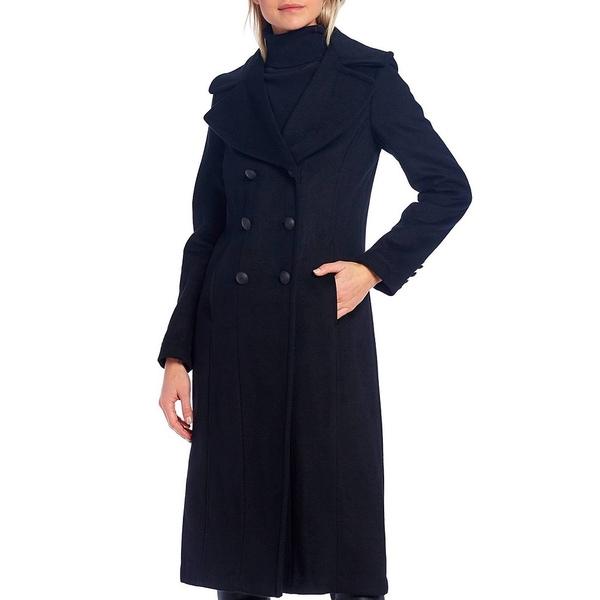 【海外 正規品】 アントニオメラニー レディース コート アウター Diana Double-Breasted Maxi Pea Coat With Detachable Hooded Puffer Bib Black, ヤマサキチョウ d3da0941