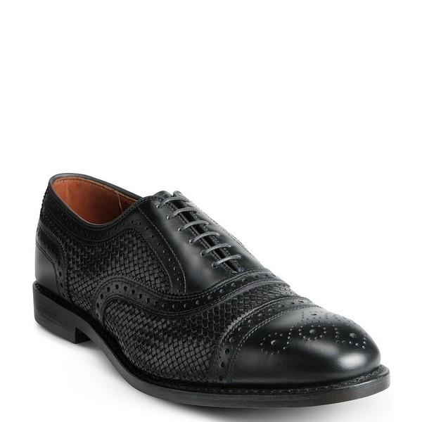 完売 アレンエドモンズ メンズ シューズ ドレスシューズ 低価格化 Black Strand Men's Weave 全商品無料サイズ交換 Oxford