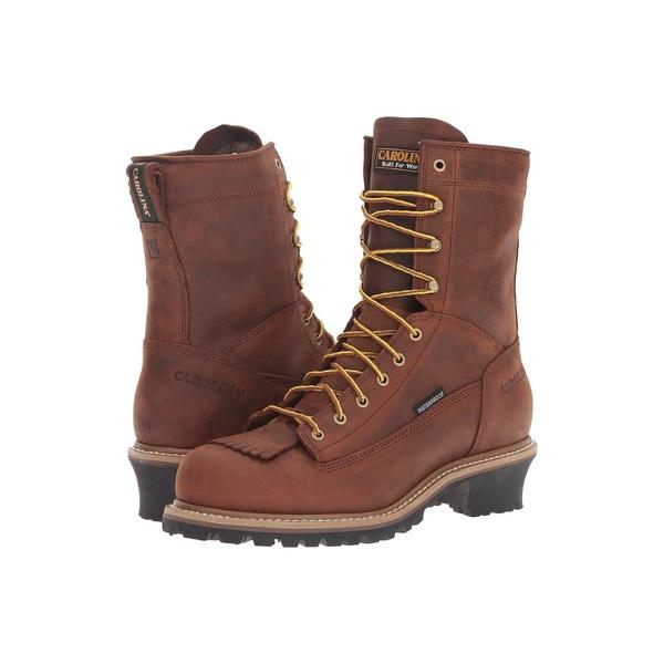 カロリーナ メンズ ブーツ&レインブーツ シューズ Spruce Waterproof Logger CA8824 & CA8825 Copper Crazy Horse