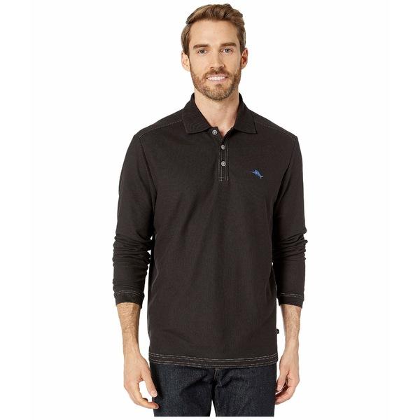 トッミーバハマ メンズ シャツ トップス Emfielder 2.0 Polo Long Sleeve Black
