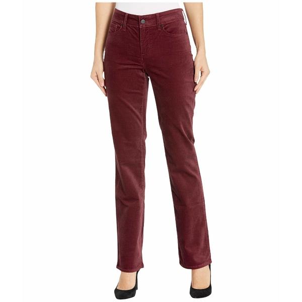 エヌワイディージェイ レディース カジュアルパンツ ボトムス Marilyn Straight Velvet Jeans in Grenache Grenache