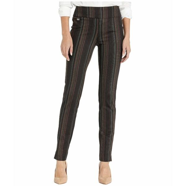 リセットエルモントリオール レディース カジュアルパンツ ボトムス Porto Stripe Print Slim Pants Multi-Tone