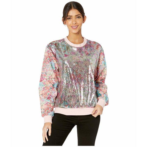 プラバルグラング レディース パーカー・スウェットシャツ アウター Floral Sequin/Floral Jacquard Sweatshirt Silver/Blush Multi