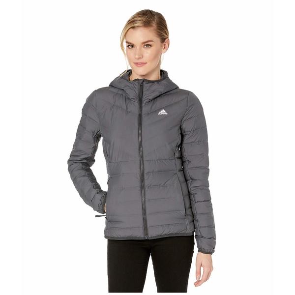 アディダス アウトドア レディース コート アウター Varilite Soft 3-Stripe Hooded Jacket Carbon