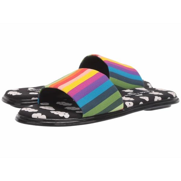 アリス アンド オリビア レディース サンダル シューズ Taleen Rainbow Stripe/Clouds