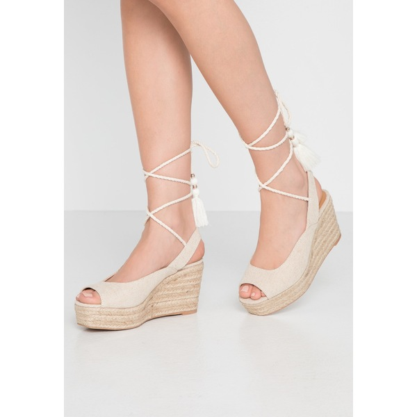 アンナフィールド レディース シューズ サンダル beige 全商品オープニング価格 全商品無料サイズ交換 vyjk0244 Platform sandals 期間限定特価品 -