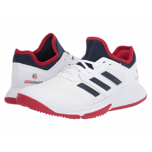 アディダス レディース スニーカー シューズ Court Team Bounce Footwear White/Collegiate Navy/Power Red