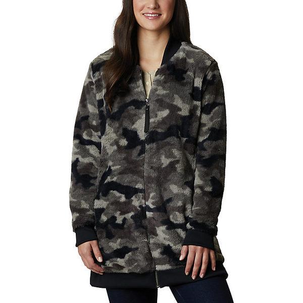 コロンビア レディース ジャケット&ブルゾン アウター Columbia Women's Bundle Up Printed Fleece Jacket Black Camo