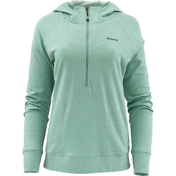 シムズ レディース シャツ トップス Simms Women's BugStopper Hoody Seafoam Heather