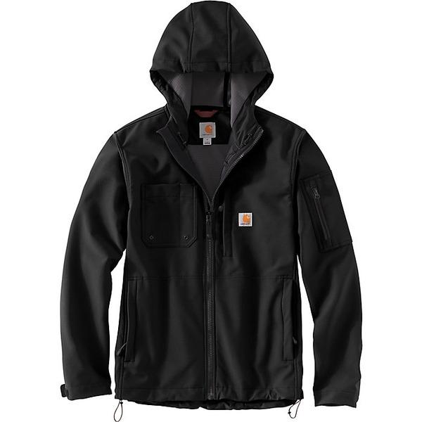 カーハート メンズ Hooded アウター ジャケット&ブルゾン Carhartt Men's Cut Jacket Rough Black