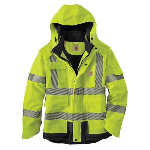 カーハート メンズ ジャケット&ブルゾン アウター Carhartt Men's Hight-Visibility Sherwood Jacket Brite Lime