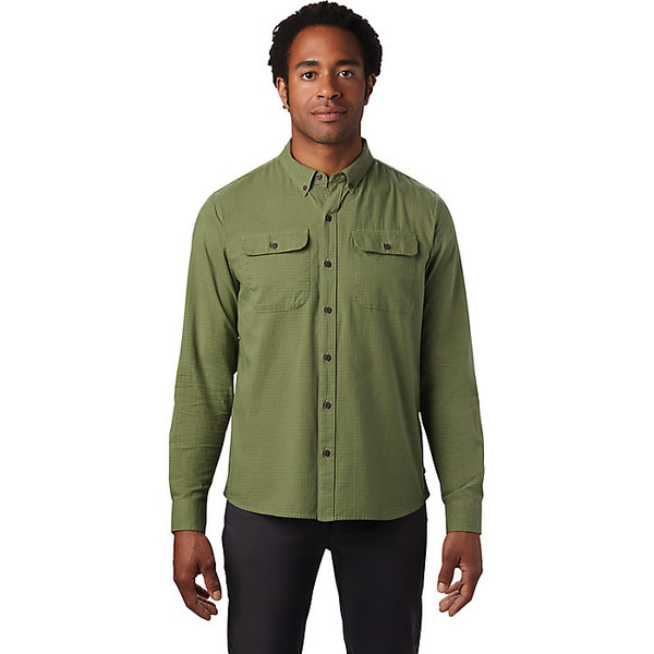 マウンテンハードウェア メンズ シャツ トップス Mountain Hardwear Men's Crystal Valley LS Shirt Field