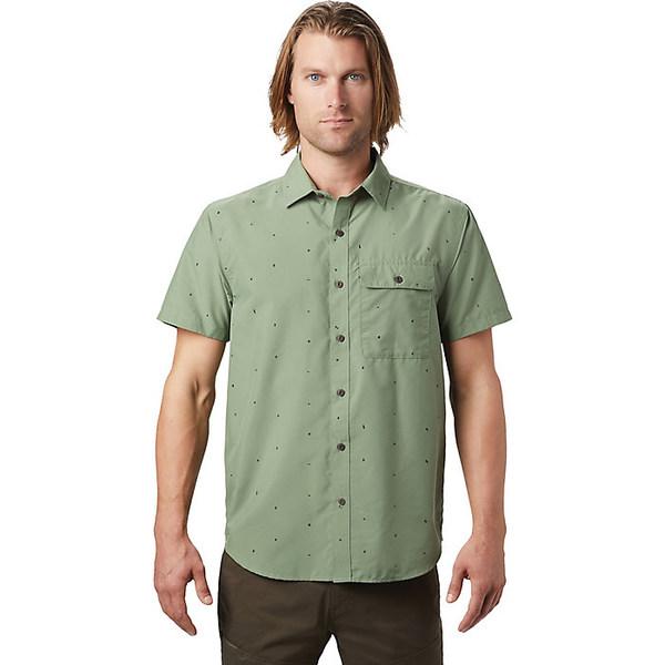 マウンテンハードウェア メンズ シャツ トップス Mountain Hardwear Men's Greenstone SS Shirt Icelandic