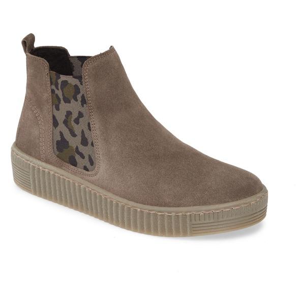 ガボール レディース スニーカー シューズ Gabor Chelsea Sneaker (Women) Grey Nubuck Leather