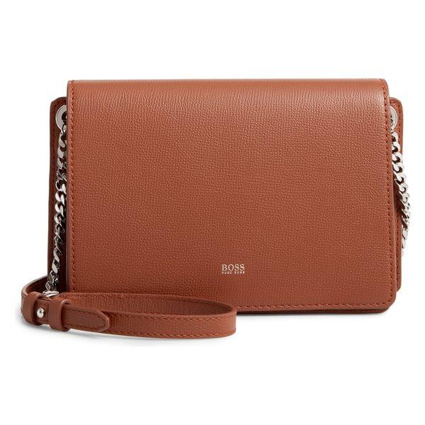 ボス レディース ハンドバッグ バッグ BOSS Taylor Leather Crossbody Bag Light/ Pastel Brown