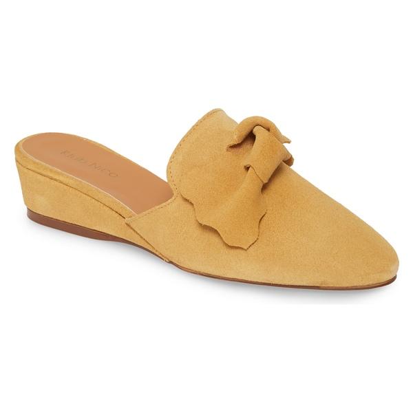クラブニコ レディース サンダル シューズ Klub Nico Delmy Bow Loafer Mule (Women) Yellow Suede