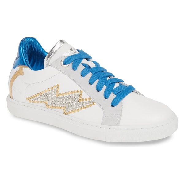 ザディグ エ ヴォルテール レディース スニーカー シューズ Zadig & Voltaire Flash Studs Low Top Sneaker (Women) Blanc