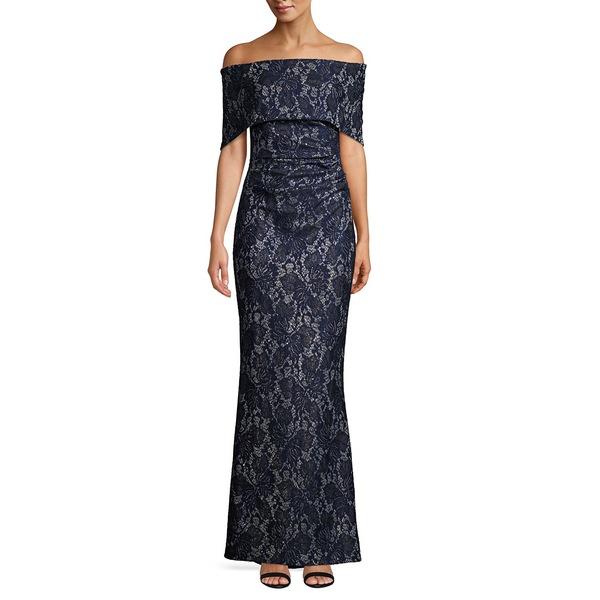 ヴィンスカムート レディース Off-the-Shoulder ワンピース ワンピース トップス Off-the-Shoulder Dress Lace Sheath Dress Navy, 牛深市:4dd879af --- officewill.xsrv.jp