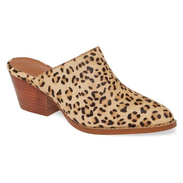 ココナッツバイマッテシィ レディース サンダル シューズ Coconuts by Matisse Camelot Genuine Calf Hair Mule (Women) Leopard Print Calf Hair