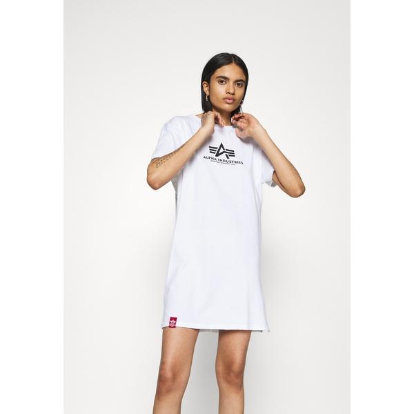 アルファインダストリーズ レディース トップス 日本全国 送料無料 ワンピース white 爆買い新作 全商品無料サイズ交換 BASIC vzdf0034 Jersey - dress LONG