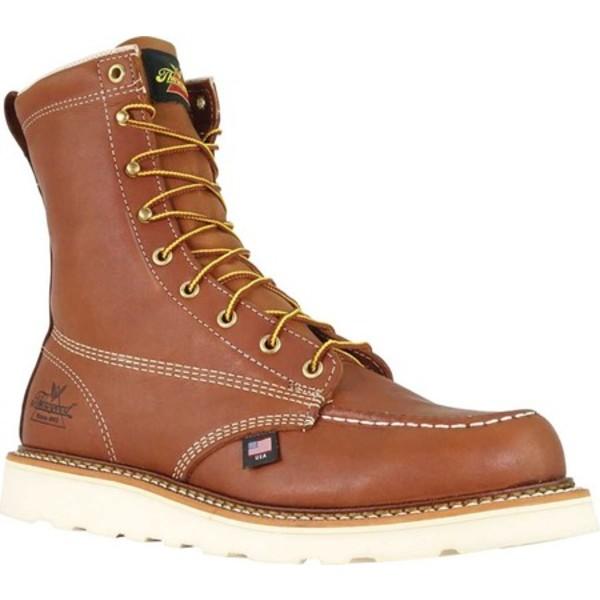 ソログッド メンズ シューズ ブーツ レインブーツ 人気の定番 Tobacco Full Grain Leather 全商品無料サイズ交換 Combat Wedge Men's Boot Moc Toe セール 8 814-4201 Inch