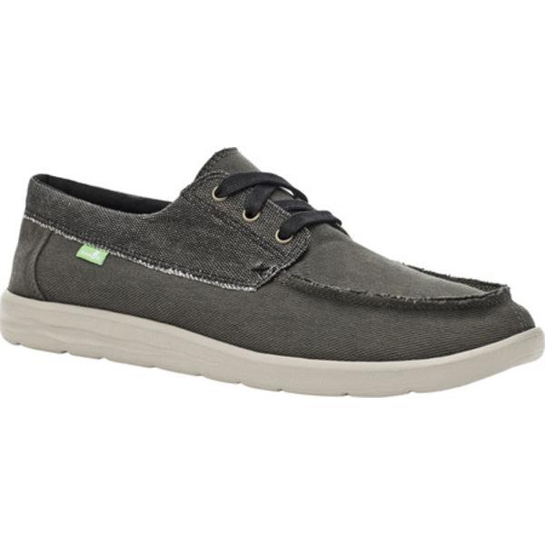 サヌーク メンズ シューズ スニーカー Washed Black Canvas Skuner 全商品無料サイズ交換 Men's Sneaker 新色追加 激安 激安特価 送料無料 Toe Moc Lite