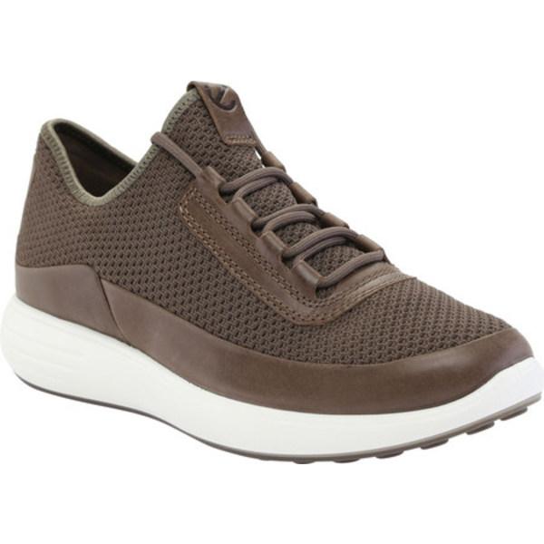 セール特価 今だけスーパーセール限定 エコー メンズ シューズ スニーカー Dark Clay Nubuck Textile 7 Sneaker 全商品無料サイズ交換 Summer Soft Runner Men's