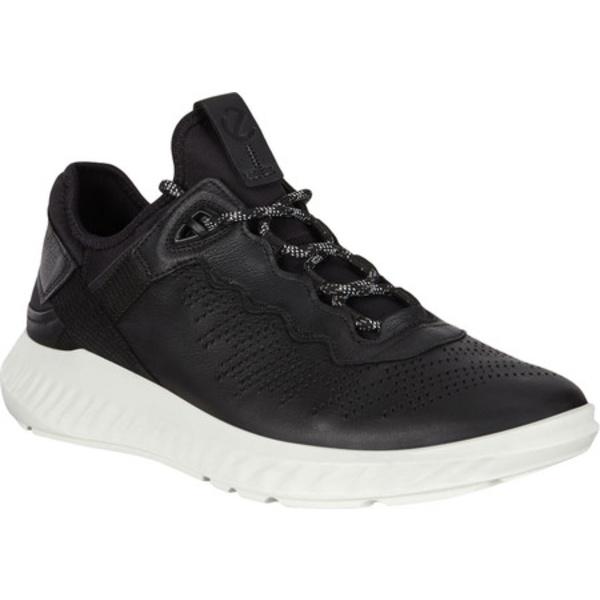 エコー メンズ 絶品 シューズ スニーカー Black Yak Full ST.1 Sneaker Lite Leather Grain 祝開店大放出セール開催中 全商品無料サイズ交換 Men's