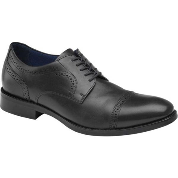 ジョンストンアンドマーフィー メンズ シューズ ドレスシューズ Black Full Grain 価格 交渉 送料無料 Leather Men's Oxford 贈呈 全商品無料サイズ交換 Austin Toe Cap