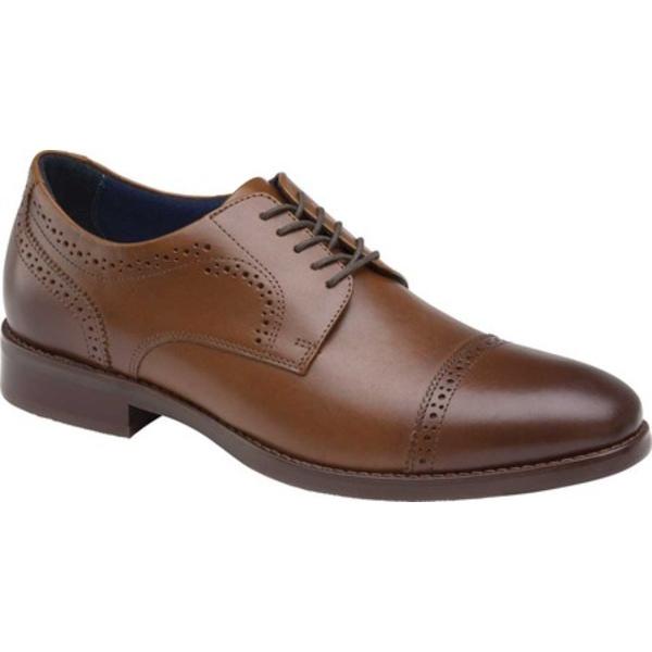 絶品 ジョンストンアンドマーフィー メンズ シューズ ドレスシューズ Tan Full Grain Austin 全商品無料サイズ交換 Men's 低価格化 Oxford Leather Cap Toe