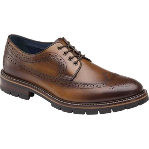 ジョンストンアンドマーフィー 全店販売中 メンズ シューズ ドレスシューズ Tan Full Grain 上質 Leather 全商品無料サイズ交換 Cody Oxford Wing Men's Long Tip