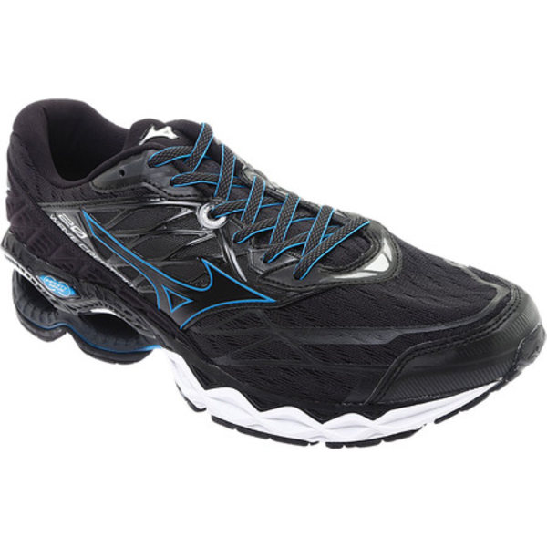 ミズノ メンズ シューズ スニーカー Black 全商品無料サイズ交換 20 スピード対応 全国送料無料 Men's Creation Shoe 再入荷 予約販売 Wave Running