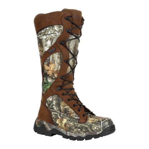 ロッキー メンズ シューズ 奉呈 ブーツ レインブーツ Realtree Edge Leather Waterproof Snake Boot Red 全商品無料サイズ交換 Mountain 正規取扱店 RKS0449 Men's