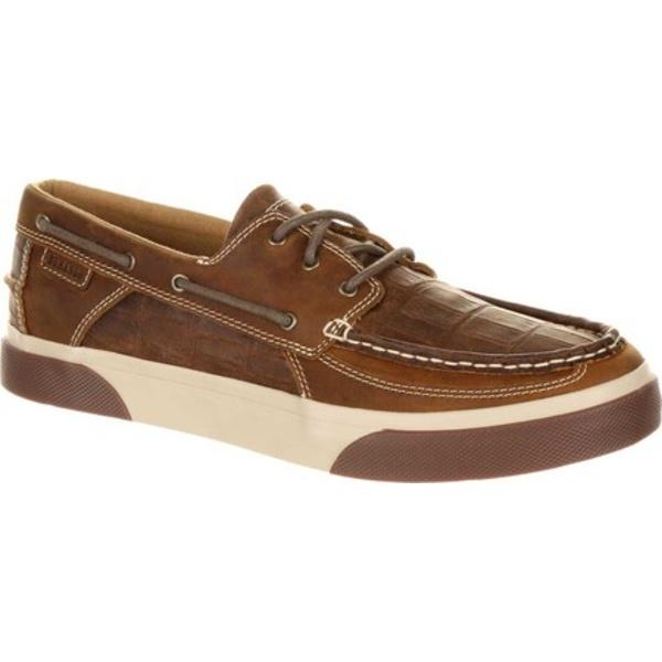 ヂュランゴ メンズ シューズ デッキシューズ 1着でも送料無料 Gator Emboss Grand Ole Brown Full Music Grain DDB0143 全商品無料サイズ交換 City Boat Leather Shoe Men's ランキング総合1位