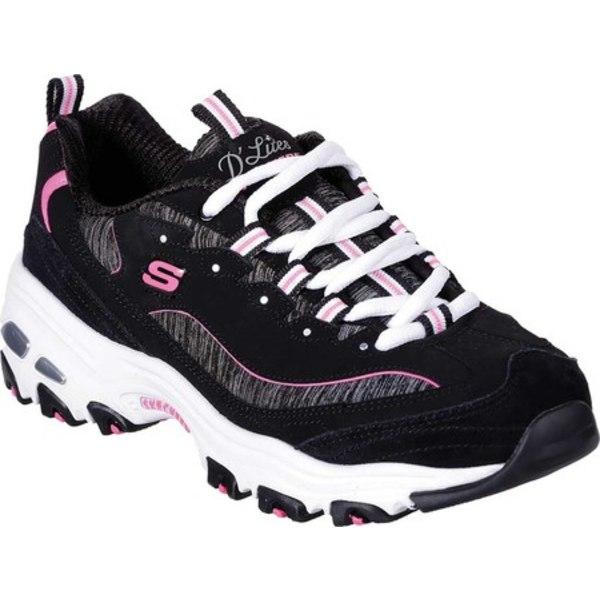 レディース シューズ D'Lites スニーカー Black/Hot Sneaker (Women's) スケッチャーズ Pink