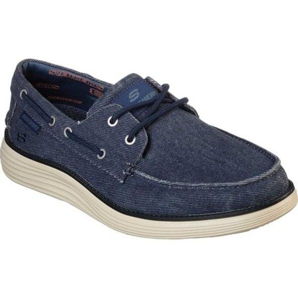 スケッチャーズ メンズ シューズ 高級な 往復送料無料 デッキシューズ Navy 全商品無料サイズ交換 Status Boat Lorano 2.0 Men's Shoe