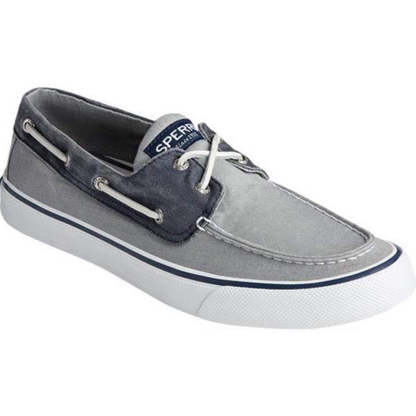 メーカー再生品 トップサイダー 新入荷 流行 メンズ シューズ デッキシューズ Salt Washed Grey Navy II Bahama Canvas 全商品無料サイズ交換 Shoe Boat Men's