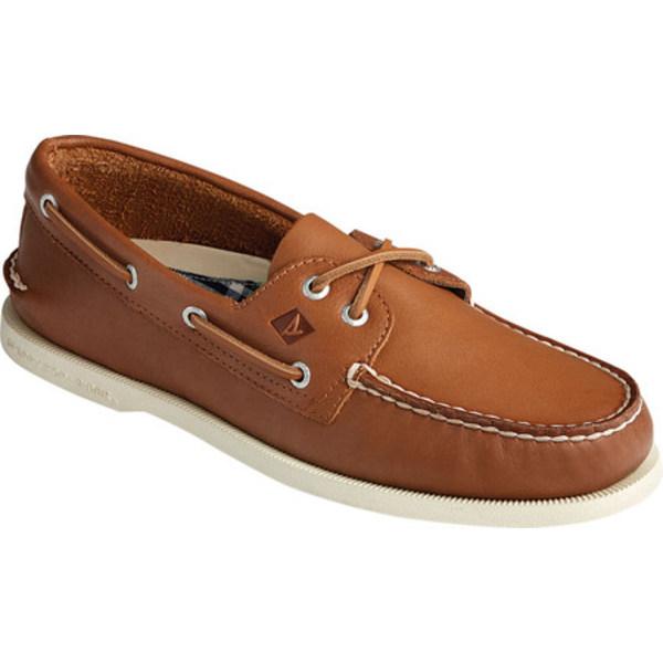 トップサイダー メンズ シューズ デッキシューズ Tan Soft Leather 全商品無料サイズ交換 物品 Authentic Original 2-Eye 与え Whisper Men's Shoe Boat