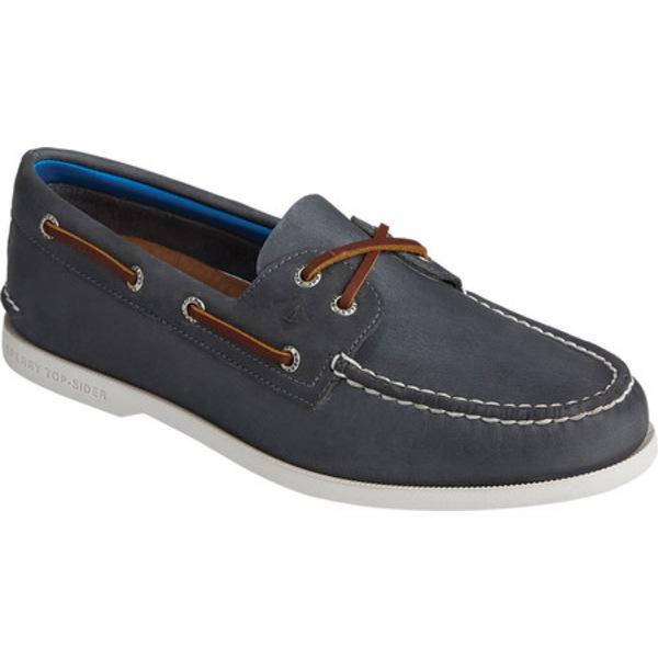 トップサイダー メンズ シューズ デッキシューズ Navy Full Grain Leather Boat 正規取扱店 Original Authentic Men's Shoe 全商品無料サイズ交換 オンラインショップ 2-Eye PlushWave