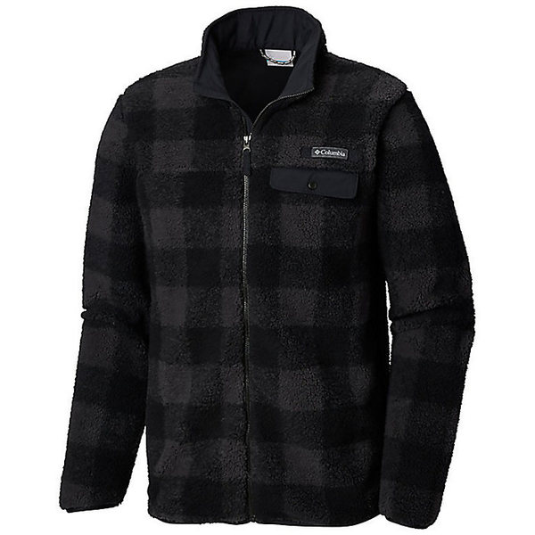 コロンビア メンズ ジャケット&ブルゾン アウター Columbia Men's Mountain Side Heavyweight Full Zip Fleece Jacket Black Plaid